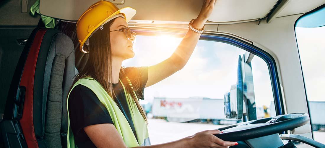 female lorry driver